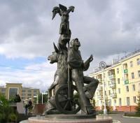 Бременские музыканты, памятник в Красноярске