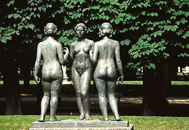 Три нимфы, Майоль