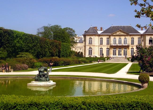 Музей Родена в Париже - вид со двора