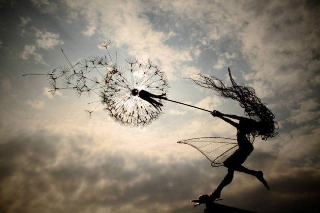 Робин Уайт, скульптура феи, одуванчик