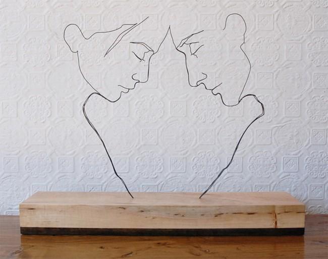 Гевин Ворт - черты лица, скульптура из проволоки