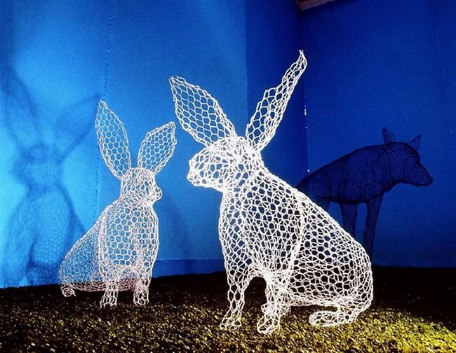 Бендетта Убальдини, скульптура из проволоки, животные