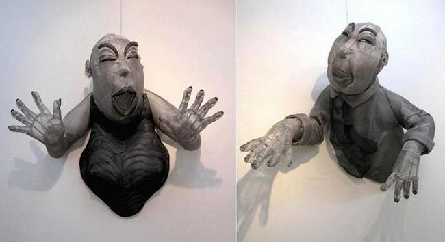 Юко Хишияма, скульптура из проволоки