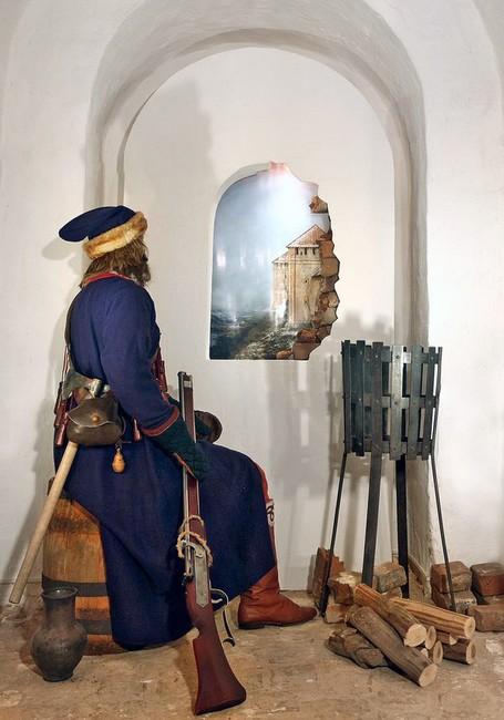 В одном из залов музея рыцарей