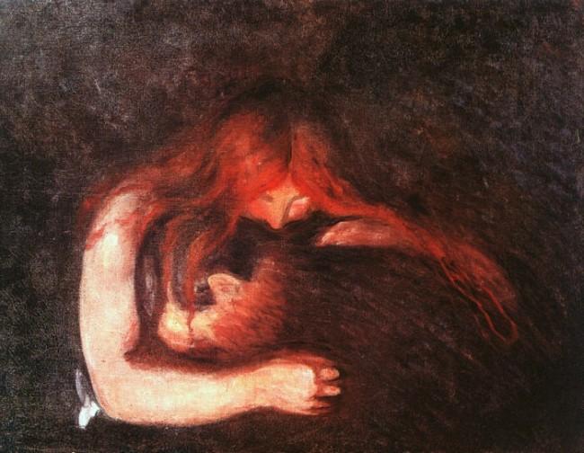 """Эдвард Мунк, """"Вампир"""", 1893"""