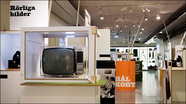 Старый телевизор в техническом музее в Швеции, Стокгольм