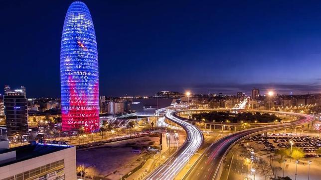Барселона, ночь
