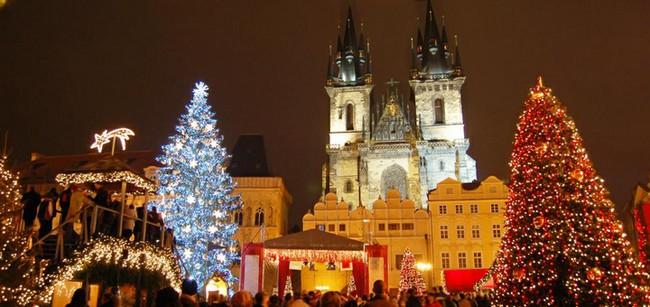 Прага, декабрь, ночь