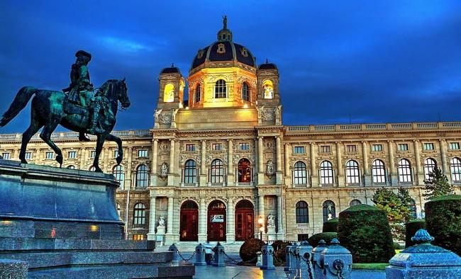Музей истории искусств, Вена - главный вход