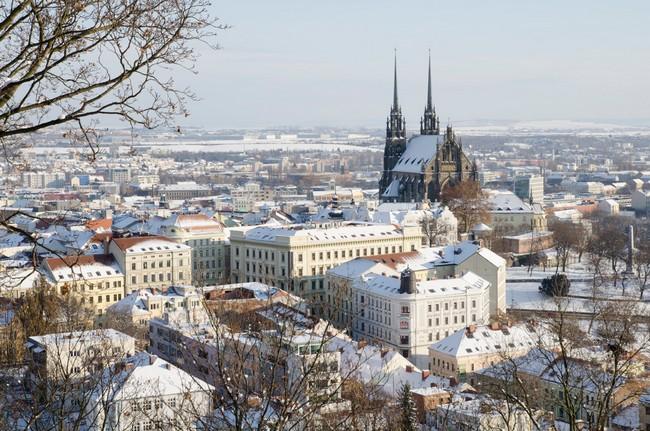 Город Брно зимой