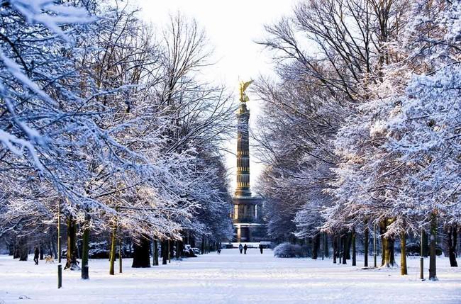 Берлин в декабре, зима