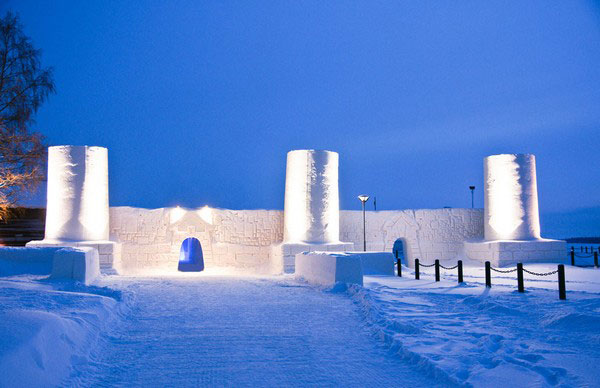 Снежная сауна, Финляндия