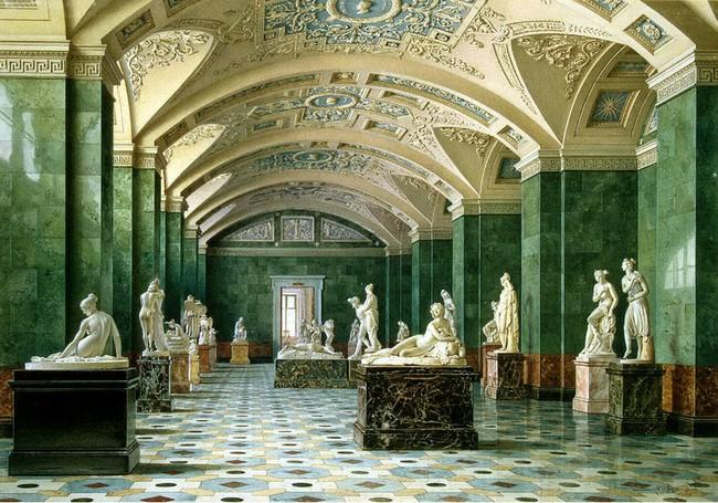 Античный зал, скульптура, Эрмитаж