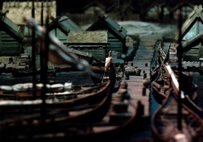 Макет поселения викингов