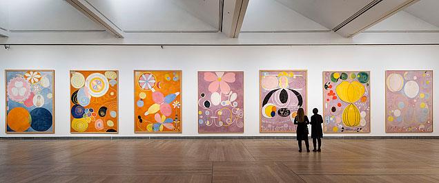 Картины в музее современного искусства, Стокгольм