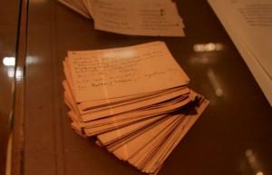 Карточки с текстом - экспонат в музее Зигмунда Фрейда, Вена