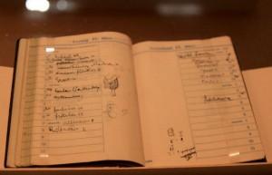 Блокнот Фрейда - экспонат в музее Зигмунда Фрейда, Вена
