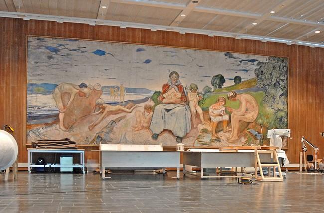 В одном из залов музея Мунка в Осло