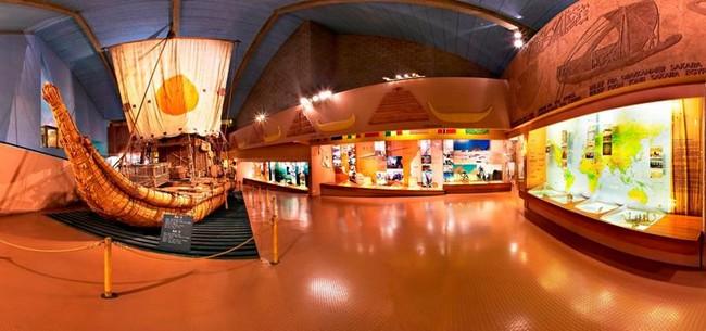 В одном из залов музея Кон-Тики