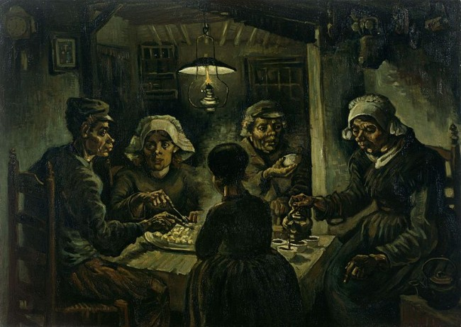 "Картина ""Едоки картофеля"", Винсент Ван Гог, 1885 - описание"