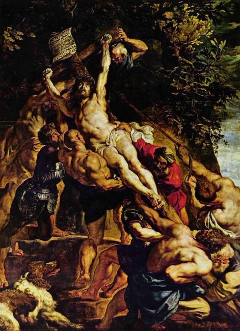 Воздвижение креста, Питер Пауль Рубенс - описание картины