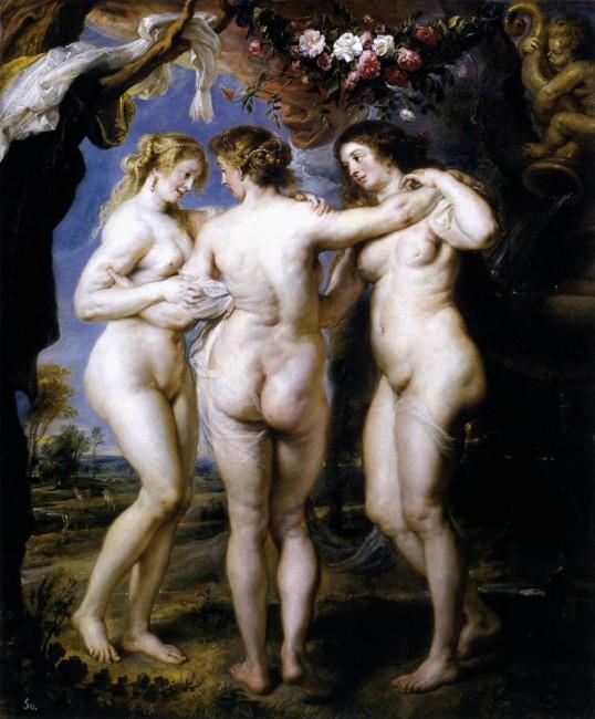 Три грации, Рубенс - описание картины