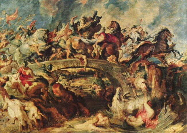 Битва греков с амазонками, Питер Пауль Рубенс - описание