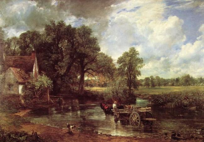 Телега для сена, Джон Констебл - описание картины