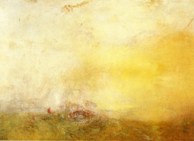 Восход с морскими чудовищами, Уильям Тёрнер - описание