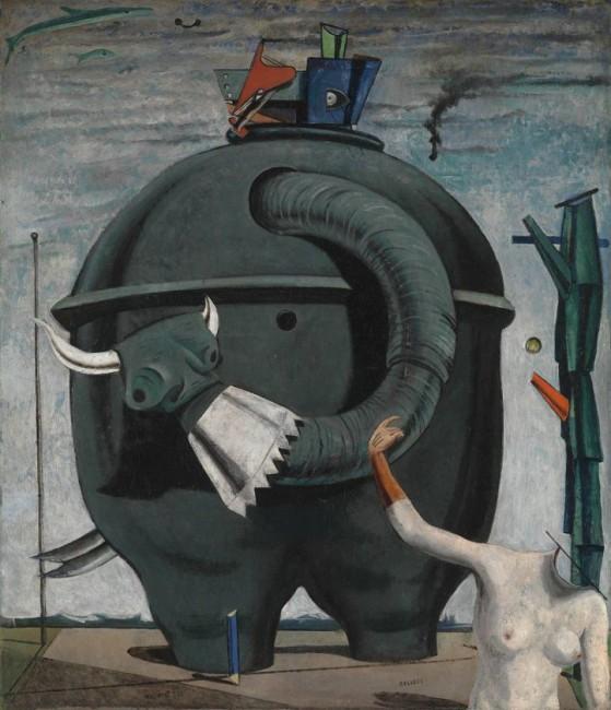 Целебесс или слоны Целебесса, Макс Эрнст - описание картины