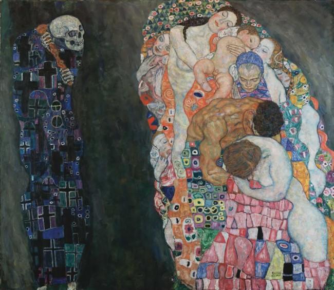 """Картина Густава Климта """"Смерть и жизнь"""""""
