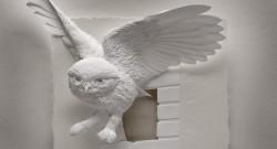 """Скульптура из бумаги """"Сова"""", Кэлвин Николлс"""