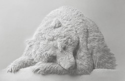 """Скульптура из бумаги """"Медведь"""", Кэлвин Николлс"""