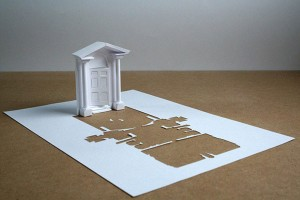 Питер Каллесен, скульптура из бумаги