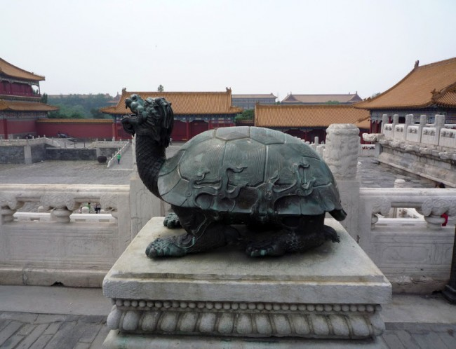 Черепаха биси, Китай