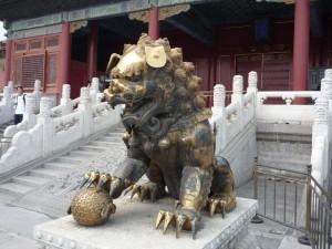 Лев, скульптура Китая