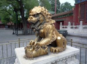 Львица, скульптура Китая