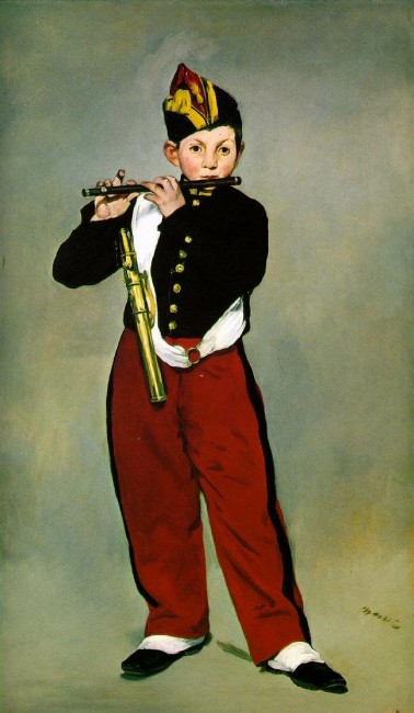 Флейтист, Эдуард Мане - описание картины