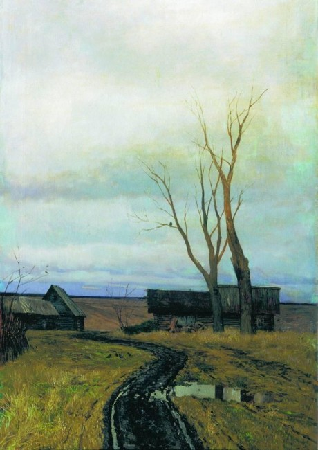 «Осень. Дорога в деревне», Исаак Ильич Левитан — описание картины