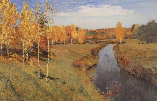 Описание картины «Золотая осень» — Исаак Ильич Левитан