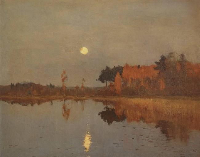 «Сумерки. Луна», Исаак Ильич Левитан — описание картины