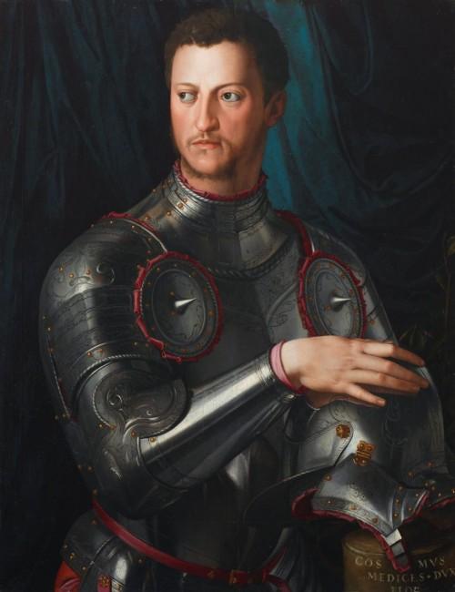 «Портрет Козимо I де Медичи в доспехах», Аньоло Бронзино — описание