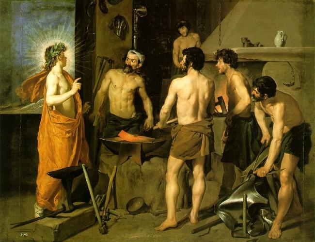 «Кузница Вулкана», Диего Веласкес — описание картины