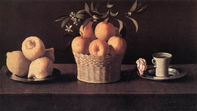 Натюрморт с лимонами, апельсинами и розой, Франсиско де Сурбаран — описание картины