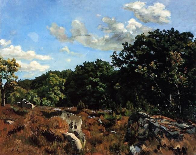 «Пейзаж в Шайи», Фредерик Базиль — описание картины