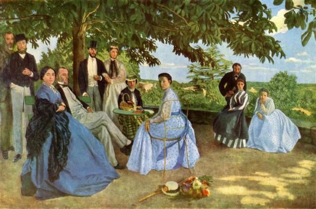 «В кругу семьи», Фредерик Базиль — описание картины