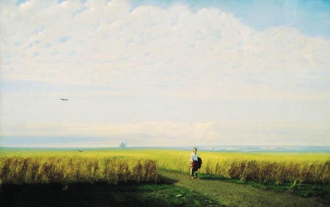 «Степь. Нива», Архип Иванович Куинджи — описание картины