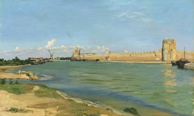 «Волны в Эг-Морт», Фредерик Базиль — описание картины
