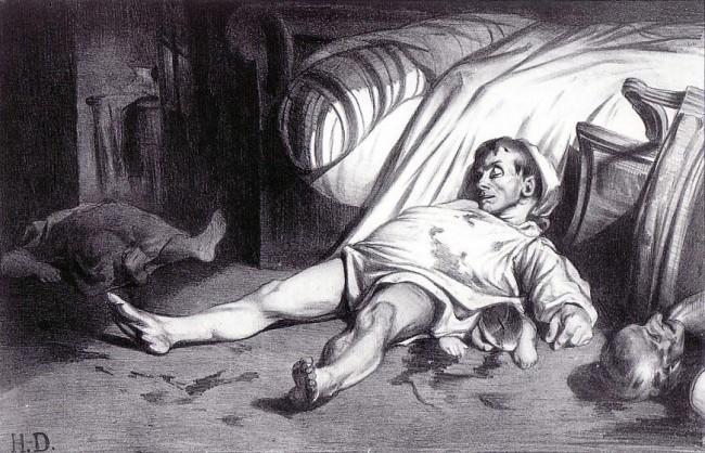 «Улица Транснонен 15 апреля 1834 года», Оноре Домье — описание