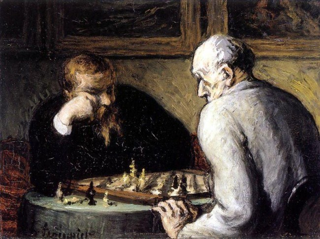 «Шахматисты», Оноре Домье — описание картины